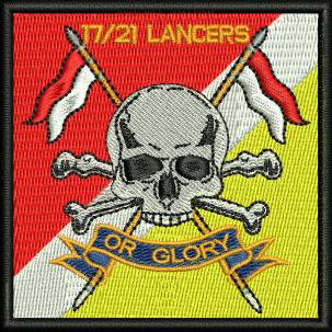 17/21 Lancers Embroidered Badge