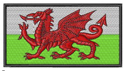 Welsh Flag RE Embroidered Badge