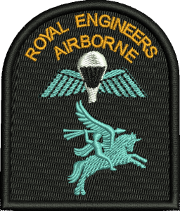 RE Airborne embroidered Badge (Left)