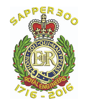 Sapper 300 & Cap badge Embroidered T shirt