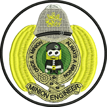 Minion RE Embroidered Badge