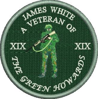 Green Howards Personalised Veteran Embroidered Badge