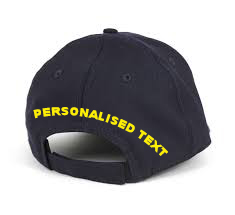 Text on Back of Cap