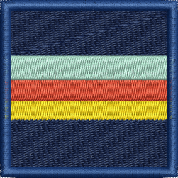 CORPS OF ARMY MUSIC EMBROIDERED BADGE