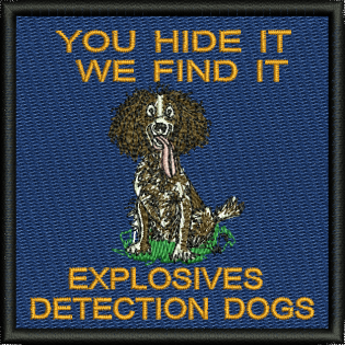 Explosive Detection Dogs Embroidered Badge