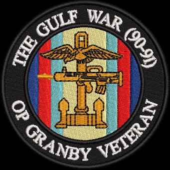 Gulf War 90-91 embroidered badge