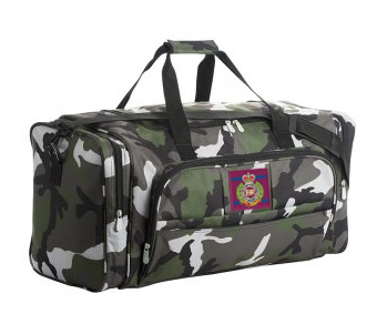 Holdall with embroidered badge