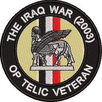 IRAQ WAR 2003 Embroidered Badge