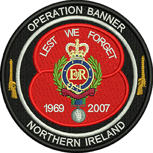 Op Banner Northern Ireland Embroidered Badge