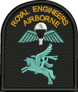 RE Airborne Embroidered Badge