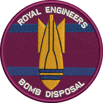 RE Bomb Disposal embroidered Badge