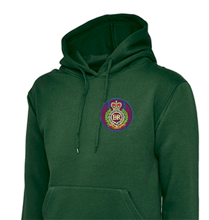 RE  Embroidered Green Hoodie LARGE SALE